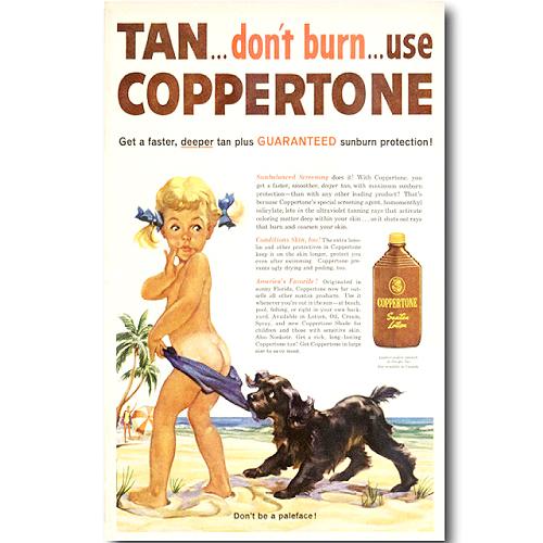 빈티지 포스터 Coppertone