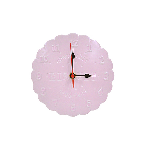[CHOCOHOLIC] 비스켓 벽시계 : 핑크