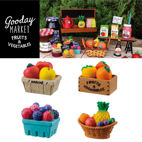 [DECORE] 데꼴 Goodday Market Fruits Box Card Stand : 4 Type