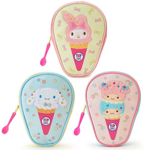 [산리오x베스킨31][한정] 산리오재팬x베스킨라빈스31 콜라보 시리즈 : 아이스크림 형 펜파우치 : 3 Type