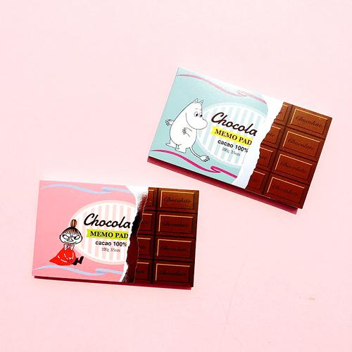 [MOOMIN] 무민 초콜릿 메모지 : 2 Type