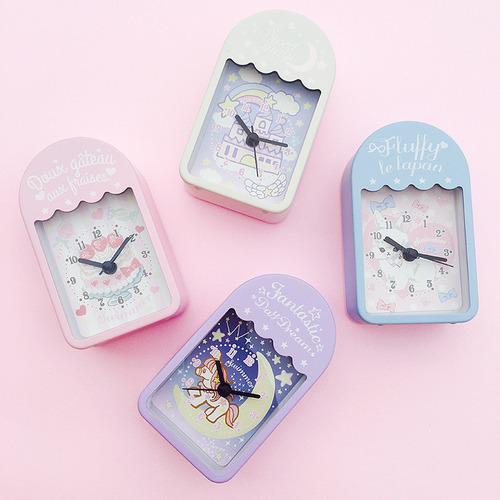 스위머 파스텔 알람 시계 : 케이크, 래빗, 캐슬, 유니콘