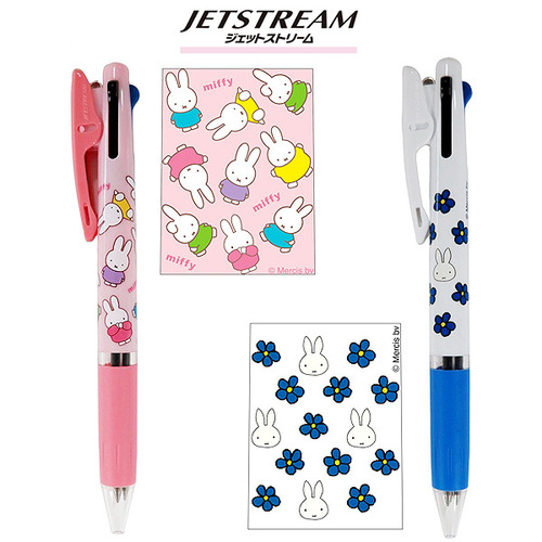 [JETSTREAM] 미피 제트스트림 3색 볼펜 : 핑크. 블루