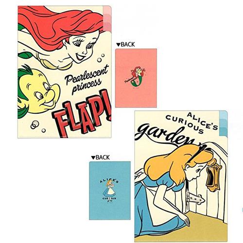 [DISNEY] 디즈니 Liito 3포켓 인덱스 A4 클리어파일 : 아리엘, 앨리스