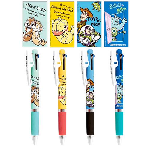 [JETSTREAM] 제트스트림 디즈니 콜라보 3색 볼펜 0.5mm : 칩앤데일, 곰돌이푸, 토이스토리, 설리앤마이크