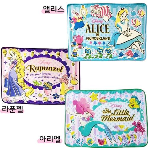 [정품][DISNEY] 디즈니 플란넷 무릎담요 : 앨리스, 라푼젤, 아리엘