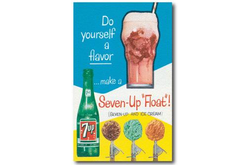 빈티지 포스터 Seven - Up