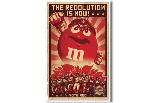 빈티지 포스터 M&M'S  Red