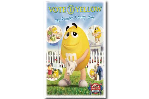 빈티지 포스터 M&M'S  Yellow