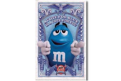 빈티지 포스터 M&M'S  Blue