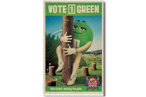 빈티지 포스터 M&M'S  Green