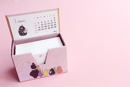 [BARBAPAPA] 바바파파 MEMO BOX 캘린더 2016